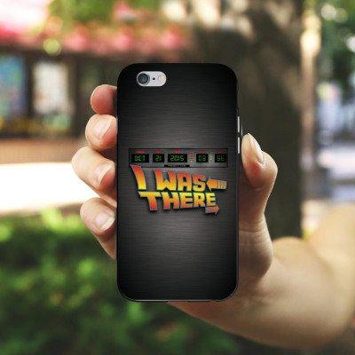 Apple iPhone X Silikon Hülle Case Schutzhülle Zukunft Future Marty Silikon Case schwarz / weiß