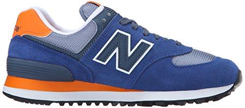 New Balance Damen Wl574cpm-574 Laufschuhe Mehrfarbig (Navy/Orange 417Navy/Orange 417)
