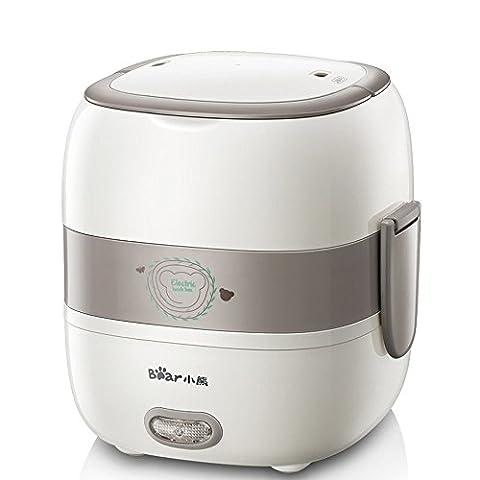 LIUYU Coffre à cuisson électrique à 1,2 litres Mini casseroles au riz Sceau à vide Céramique Intérieur Pot