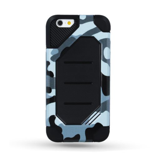PANZER DEFENDER Moro Camouflage Für Apple iPhone 5 iPhone 5S iPhone 5G iPhone 5SE Schutzhülle Armee Militär / Army Case Etui Cover Hülle Flip (grau / grey) grau / grey