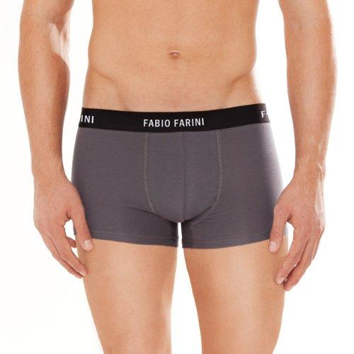 4er Pack Fabio Farini Boxershorts Baumwolle Herren Unterwäsche Pants 2 Blau 2 Grau