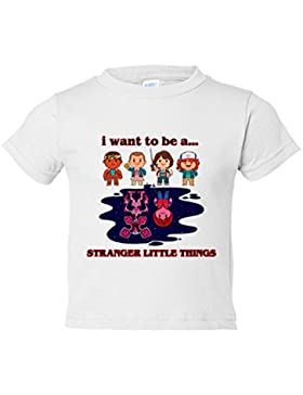 Camiseta niño Stranger Things I Want To Be A Stranger Little Things