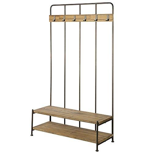 Vintage Garderobe GIRO 180 cm hoch Flurgarderobe Sitzbank Aufhängemöglichkeit
