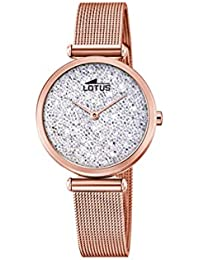 ef43d9fc431a Lotus Watches Reloj Análogo clásico para Mujer de Cuarzo con Correa en Acero  Inoxidable 18566
