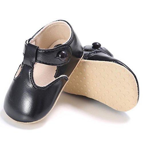 Bebê Nascido Macia Couro Antiderrapante Saingace Recém Criança Sapatos Criança Sapatos Preta Sola Rastejando IxIPtR4