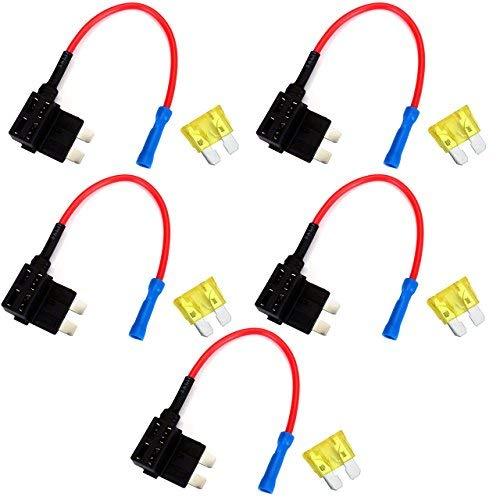 Graceme - Kit standard de support de fusible automatique ATO ATC pour lame de circuit avec 5 fusibles 20 A - Pour voiture