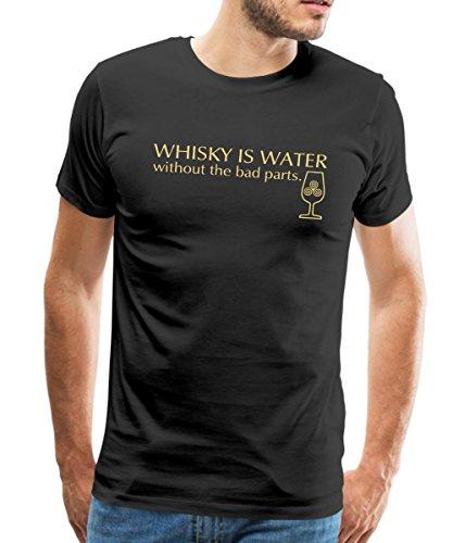 Whisky Is Water Without The Bad Parts Spruch Männer Premium T-Shirt von Spreadshirt®, XXL, Schwarz