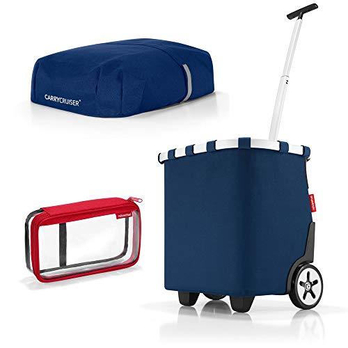 reisenthel carrycruiser Plus Cover Plus case 2 Einkaufskorb Einkaufstasche Einkaufstrolley Set Rolltasche Case Kosmetik (Dark Blue) -