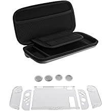 EVA Hard Shockproof Carry Storage Case + 7 In 1 Protective Hard Case Cover + Thumbstick Caps Set For Nintendo Switch