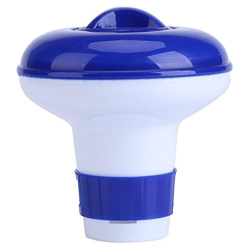 S / M azul y blanco de la piscina Spa Spa flotante de bromo dispensador de sustancias químicas(PEQUEÑO)