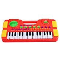 Piano Toy, Finer Shop 31 Key Electronic Educational Piano Music Keyboard Toy for Kids - Red (Button Color is Random) by FINER SHOP