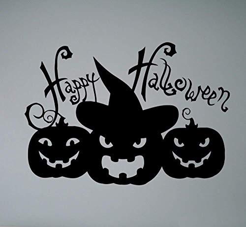 Dunkelheit Nacht Fledermäuse Kürbis Halloween Baum Wandkunst Aufkleber Aufkleber Abnehmbare Vinyl Transfer Schablone Wandhaupt Zimmer 30 * 43 Cm