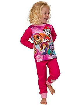 ThePyjamaFactory Mädchen Schlafanzug Rosa rose