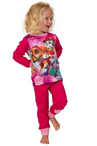 ThePyjamaFactory - Pijama - para niña Rosa rosa 5-6 Años