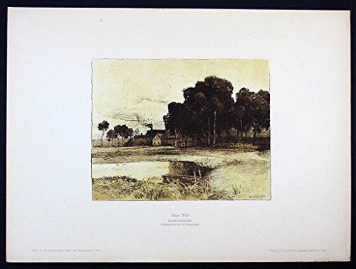 Hans Wilt Wien Original Lithographie Litho