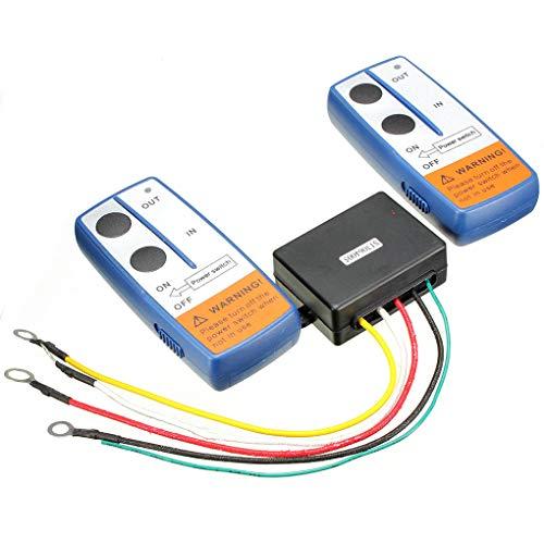 Récupération sans Fil Winch 2 Kit de contrôle à Distance du combiné Commutateur Compatible pour VTT SUV Camion 12V 100ft Regard