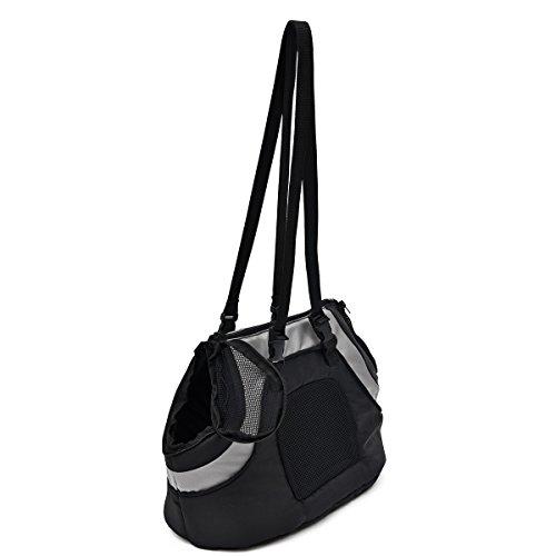 PAWZ Road Carrier für Hunde Katzen Comfort Fluggesellschaft zugelassen Travel Tote Weiche Seiten Tasche für Haustiere Transporttasche ( Color : Black )