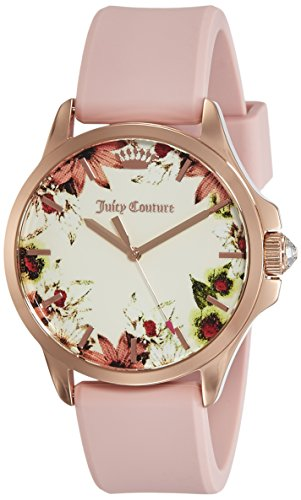 Juicy Couture Damen Datum klassisch Quarz Uhr mit Silikon Armband 1901485 (Juicy Couture Damen-uhren)