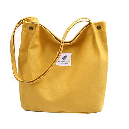 CaCaCook Modische Schultertaschen, wiederverwendbar, Einkaufstasche, faltbare Taschen, lässige Handtasche, Schultasche für Frauen, gelb - Gelbe Hobo Handtasche