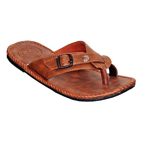 Domestiq PU Leather Pemium Comfortable Sleeper For Boy's & Men's - skus-0325-Beige-43