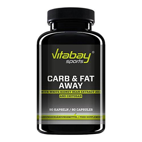 Max Carb and Fat Away– integratore blocca carboidrati e grassi –Chitosano–90Capsule