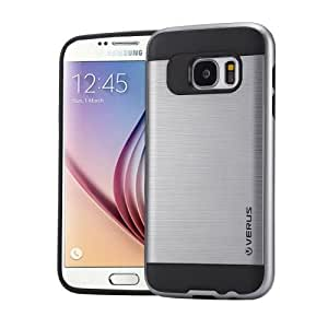 Crazy4Gadget VERUS for Samsung Galaxy S6 / G920 Brushed Texture Silicone + TPU Protective Case(Grey)