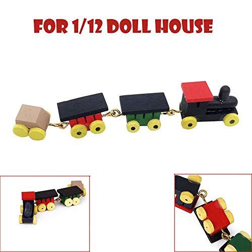 Dapei 1/12 DIY Puppenhaus Möbel Mini Zug Dollhouse Miniatur Kinder Spielzeug Puppenhaus Decor Zubehör (In Mädchen Voller Für Spiegel Länge,)