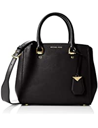 Michael Kors - Benning Medium Leather Satchel, Borse a spalla Donna