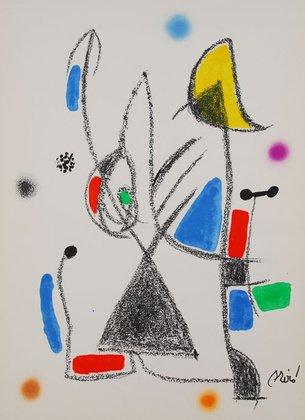 Joan Miro Mara Villas 16Original Litografia limitato Stampa Artistica immagine 50x 35,8cm-Spedizione