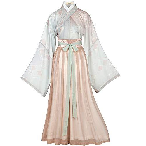 Tanz Kostüm Traditionelle Chinesische - ASKK Chinesisches Kleid, Langärmliges Weinlese-Traditionelles Hanfu Für Frauen, Cosplay Tang-Klage-Tanz-Kostüm-Blumen-Druckfotoaufnahmekleidung,M