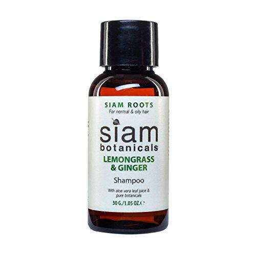 Frauen Parfümierte Duschgel (Siam Botanicals Natur Shampoo - Lemongrass & Ginger mit Aloe Vera - Bio Naturkosmetik ohne Silikon & Sulfate, 1er Pack (1 x 30 ml) Reisegröße)