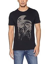 Arrow Jeans Mens Plain Regular Fit T-Shirt (8907538714329_Black_L )