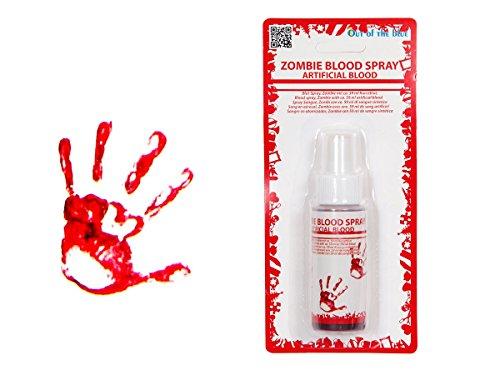 Faux sang artificiel de synthèse non comestible (98/2031) en bombe de spray aérosol de 59ml pour compléter votre déguisement halloween ou évenement déguisé maquillage de vampires, zombies, et autres morts-vivants horribles