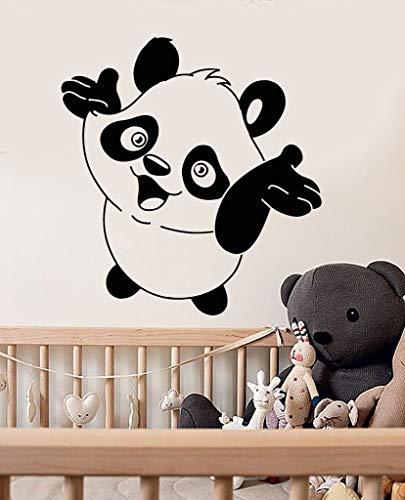yaoxingfu Baby Panda Niedlichen Tier Wandaufkleber Vinyl Wandtattoo Kindergarten Kinderzimmer Wandaufkleber Abnehmbare wasserdichteWandtattooS73X84 cm