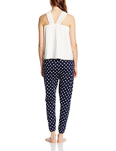 Women'secret Fr Cute Pj Fr, Ensemble de Pyjama Femme white
