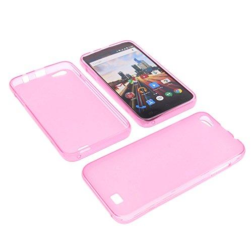 foto-kontor Tasche für Archos 50 Helium Plus Gummi TPU Schutz Hülle Handytasche pink