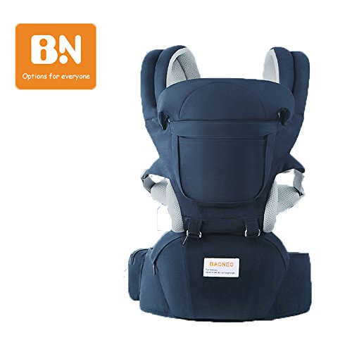 11 in 1 Baby Carrier/Babytrage/ Bauchtrage/Rückentrage Neugeborene 360 One for All Seasons- 6 Position für Säuglinge von 0 bis 36 Monaten oder von 0 bis 15 Kg (Deep Blau)