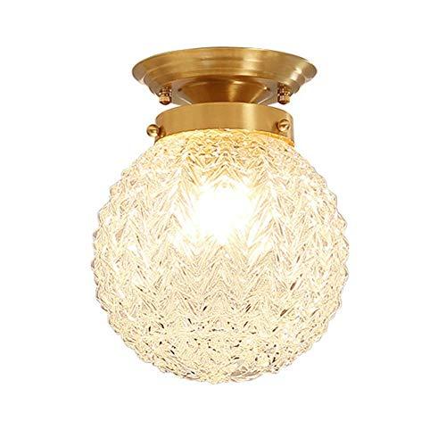 Globe-diffusor (MYXMY Amerikanischen Stil Klarglas Globe Deckenleuchte, Deckenleuchte Cremeweiß Glas Diffusor Wohnzimmer Unterputz Deckenleuchten, Deckenleuchte)