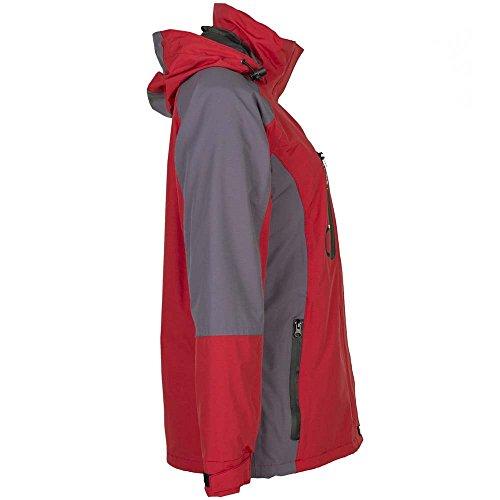 Planam Shape Damen Jacke blau/grau rot/grau