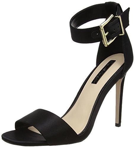 Miss Selfridge - Satin, Strap alla caviglia Donna Black (Black)