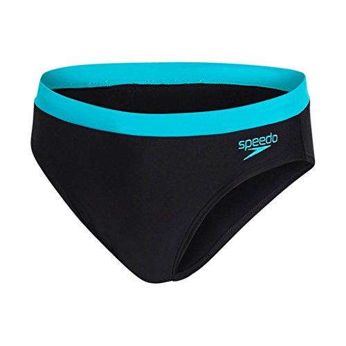 Speedo Essential Logo 7cm Brief - Schwimmhose Herren Schwarz