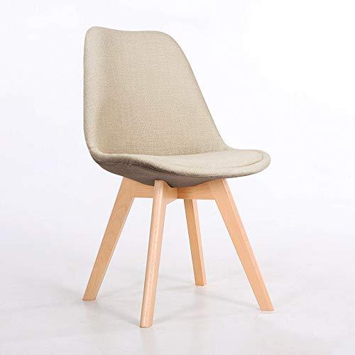 XING-ZI-stool C-K-P Stuhl, Nordic Freizeitstuhl Rückenlehne Esszimmerstuhl Stoff Stoff aus reinem Holz Stuhlbeine gelb kreativer Stuhl (Größe: 40X40X84cm) (Farbe : E) -