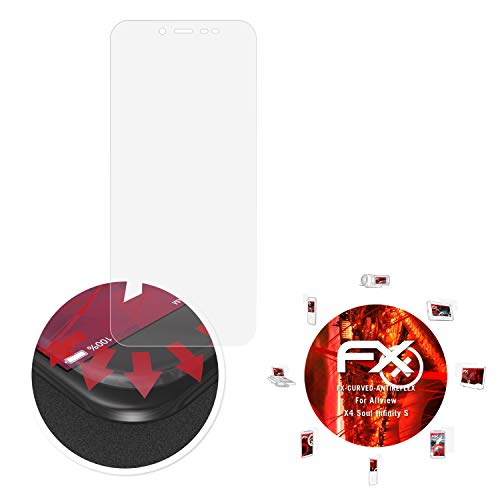 atFolix Schutzfolie passend für Allview X4 Soul Infinity S Folie, entspiegelnde & Flexible FX Bildschirmschutzfolie (3X)
