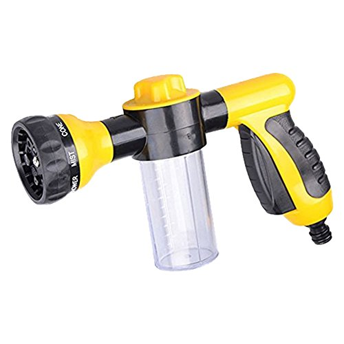 Hihamer Seasons Multi Spray Gun,Garden Hose Attachment Spray Gun Nozzle with Reservoir for Soap or Fertiliser