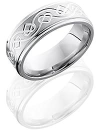 SlipRock Cobalt Chrome, Celtic Heart Engraved Satin Polished Wedding Band (sz H to Z1)