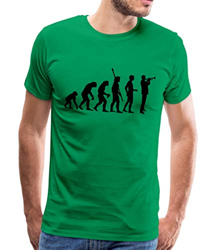 Spreadshirt Evolution Trompeter Männer Premium T-Shirt, 5XL, Kelly Green Kelly Green Band