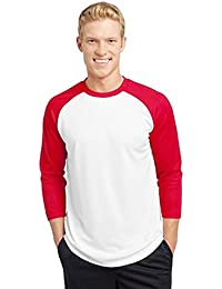 Plain Long Sleeve RAGLAN baseball style full sleeve t shirt 100% rich cotton T Shirt, long sleeve t shirt