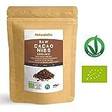 Roh Kakao Nibs Bio 400g | Organic Raw Cacao Nibs | 100% Rohkost, natürlich und rein | Produziert in Peru aus der Theobroma Cocoa Pflanze | Superfood reich an Antioxidantien, Mineralien und Vitaminen.
