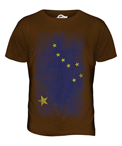CandyMix Bundesstaat Alaska Verblichen Flagge Herren T Shirt Braun