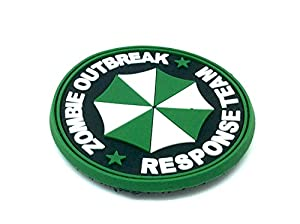 Zombie Outbreak Response Team PVC Airsoft Velcro Patch Vert